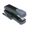 Compact Stapler with Remover and Label Holder, 20-Sheet Capacity, Black/Gray