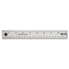Westcott Stainless Steel Office Ruler With Non Slip Cork Base, 18