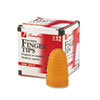 Rubber Finger Tips, Size 13, Large, Amber, 1/Dozen