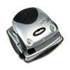 20-Sheet Easy View Two-Hole Punch, 9/32&quot; Holes, Plastic, Black/Silver