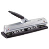 Swingline EasyView LightTouch Three-Hole Punch, 12-Sheet Capacity, Silver/Black