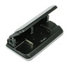 32-Sheet Easy Touch Three- to Seven-Hole Punch, 9/32&quot; Holes, Black/Gray
