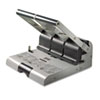 "160-Sheet Heavy-Duty Two- or Three-Hole Punch, 9/32"" Holes, Putty/Gray"