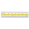 Acrylic Data Highlight Reading Ruler With Tinted Guide, 15&quot; Clear