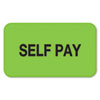 Medical Labels for Self Pay, 7/8 x 1-1/2, Fluor Green, 250/Roll