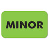 Medical Labels for Minor, 7/8 x 1-1/2, Fluor Green, 250/Roll