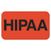 Medical Labels for HIPPA, 7/8 x 1-1/2, Orange, 250/Roll