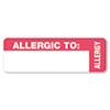 Medical Labels for Allergy Warnings, 1 x 3, White, 175/Roll