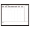 Magnetic Dry Erase Board, 48 x 36, Black/White Calendar with Black-Painted Frame