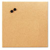 Magnetic Canvas Cork Board, 17 x 17, Unframed Cork