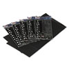 Tablemate Table Set Rectangular Table Covers, Heavyweight Plastic, 54 x 108, Black, 6/Pack