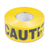 Caution Barricade Safety Tape, Yellow, 3w x 1,000 ft. Roll