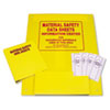 MSDS Information Center, 24w x 30h, Yellow