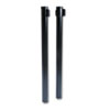 "Adjusta-Tape Crowd Control Posts, Steel, 40"" High, Black, 2/Box"