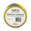 Hazard Marking Aisle Tape, 2w x 108ft Roll