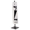 Wet Umbrella Stand, 10w x 10d x 40h, Powder Coated Steel, Black