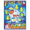 TREND Fight the Flu Learning Chart, Motivational Print, 17 x 22, 12/Pack