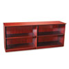 Veneer Low Wall Cabinet without Doors, 72w x 19d x 29½h, Sierra Cherry