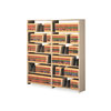 Snap-Together Open Shelving Steel 7-Shelf Closed Starter Set, 36 x 12 x 88, Sand
