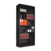 Metal Bookcase, 6 Shelves, 34-1/2w x 13-1/2d x 78h, Black