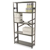 Commercial Steel Shelving, 5 Shelves, 36w x 12d x 75h, Medium Gray
