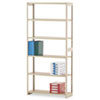 Regal Shelving Starter Set, 6 Shelves, 36w x 12d x 76h, Sand