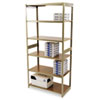 Regal Shelving Starter Set, 6 Shelves, 36w x 18d x 76h, Sand
