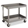 Two-Shelf Metal Cart, 2-Shelf, 24w x 36d x 32h, Gray