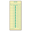 Time Card for Cincinnati, Lathem, Simplex, Job Card, 1-Sided, 3-1/2 x 9, 500/Box