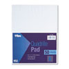 Quadrille Pads, 8 Squares/inch, 8-1/2 x 11, White, 50 Sheets/Pad
