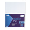 Quadrille Pads, 10 Squares/inch, 8-1/2 x 11, White, 50 Sheets/Pad