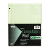 Engineering Computation Pad, Quadrille Rule, Letter, Green, 200 Sheets/Pad