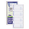 TOPS Spiralbound Message Book, 2 3/4 x 5, Carbonless Duplicate, 600-Set Book
