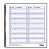 Voice Mail Log Book, 8 1/2 X 8-1/4, 1,400-Message Book
