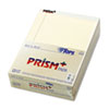 Prism Plus Colored Writing Pads, Lgl Rule, Ltr, Ivory, 50-Sheet Pads, 12/Pack