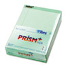 Prism Plus Colored Writing Pads, Legal Rule, Ltr, GN, 50-Sheet Pads, 12/Pack