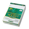 Double Docket Ruled Pads, Legal Rule, Letter, WE, 6 100-Sheet Pads/Pack
