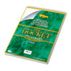 Docket Wirebound Ruled Pad w/Cover, Legal Rule, Ltr, White, 70 Sheets/Pad