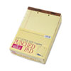2-Hole Punched Perforated Pads, Lgl Rule, Letter, Canary, 50 Sheet Pads, Dozen