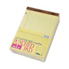 The Legal Pad Legal Ruled Perf. Pads, Punched, Ltr, Canary, 50 Sht Pads, Dozen
