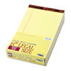 The Legal Pad Legal Rule Perforated Pads, 8-1/2 x 14, Canary, 50 Sht Pads, 12/Pk