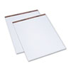 TOPS Easel Pads, Unruled, 27 x 34, White, 50-Sheet Pads, 2 Pads/Carton
