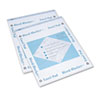 Bleed-Blocker Easel Pad, Unruled, 27 x 34, White, 2 40-Sheet Pads/Pack