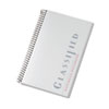 Notebook w/Frosted Cover, Narrow Rule, 5-1/2 x 8-1/2, White, 100 Sheets/Pad