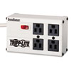 Tripp Lite ISOBAR4 Isobar Surge Suppressor, 4 Outlets, 6 ft Cord, 3330 Joules, Light Gray