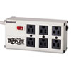 Tripp Lite ISOBAR6 Isobar Surge Suppressor, 6 Outlets, 6 ft Cord, 3330 Joules, Light Gray