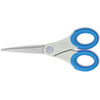 Soft Handle Scissors With Microban Protection, Blue, 7&quot; Straight
