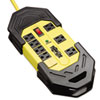 Tripp Lite Safety Surge Suppressor, 8 Outlets, 25 ft Cord, 3900 Joules, Yellow, OSHA
