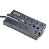 Tripp Lite TLP810NET Surge Suppressor, 8 Outlets, 10 ft Cord, 3240 Joules, Black