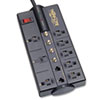 Tripp Lite TLP810SAT Surge Suppressor, 8 Outlet, RJ11, Coax, 10ft Cord, 3240 Joules